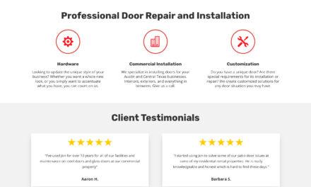 Website for 24 Hour Door Repair in Cedar Park