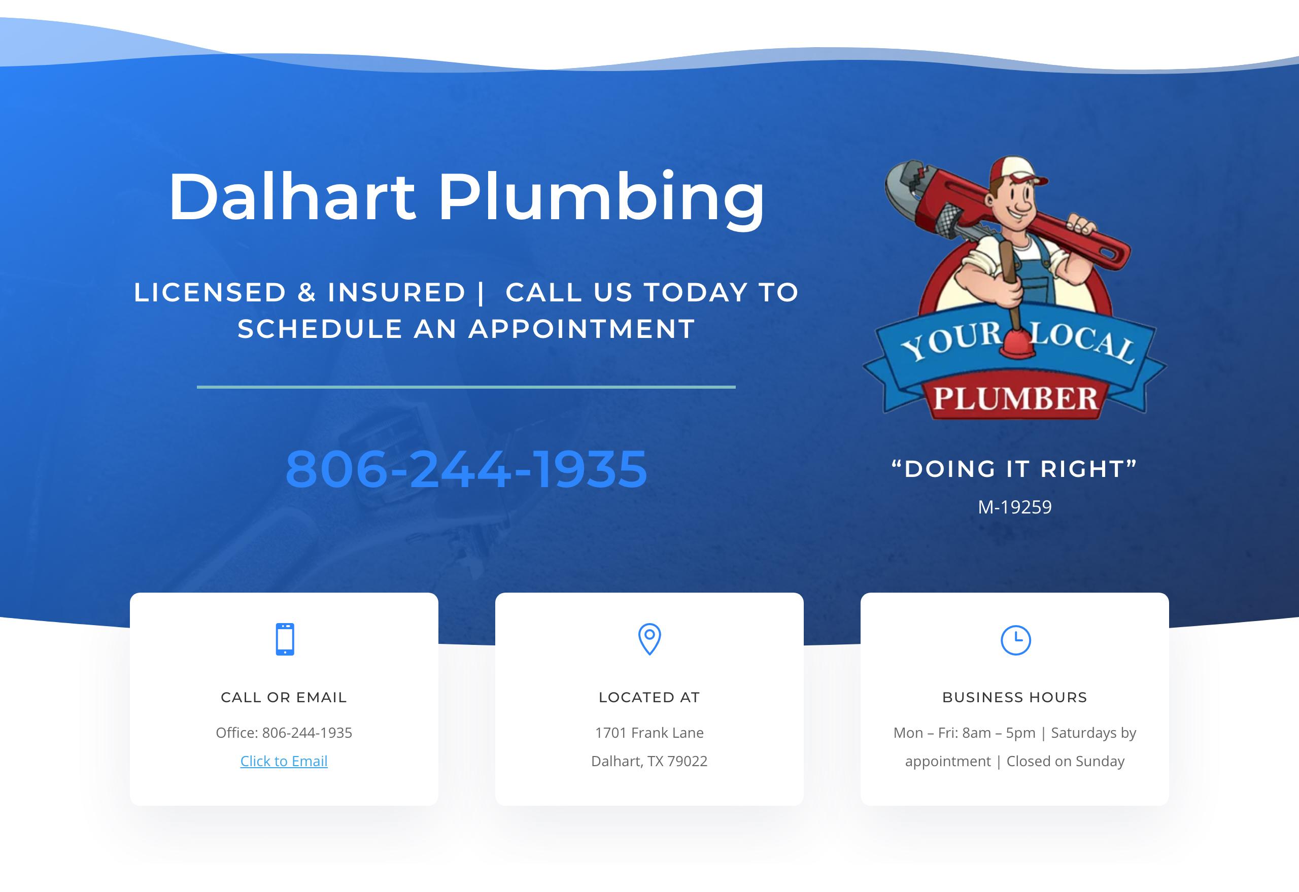 Dalhart plumbing site