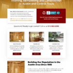 Updated Website Design for Van & Van Construction