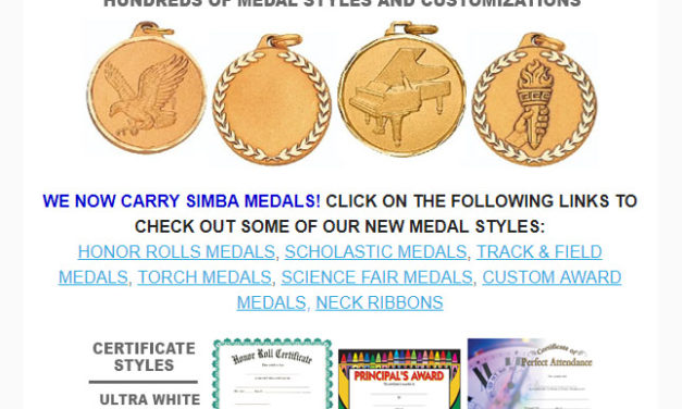 Award Ribbons Newsletter