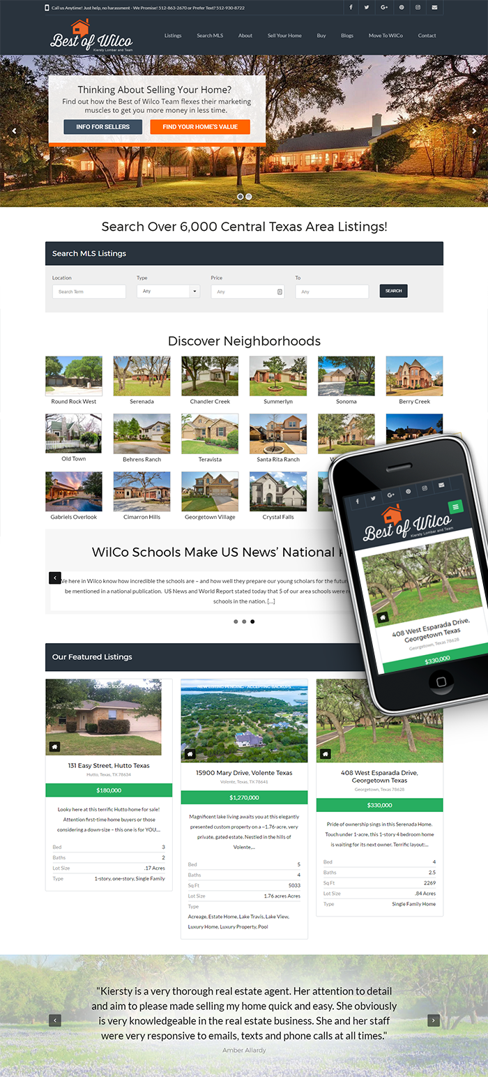 Responsive Web Design for Best Of Wilco