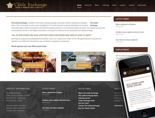 Cattle Exchange Website Update
