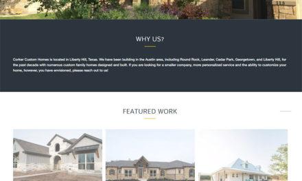 Corker Custom Homes Website Rebuild