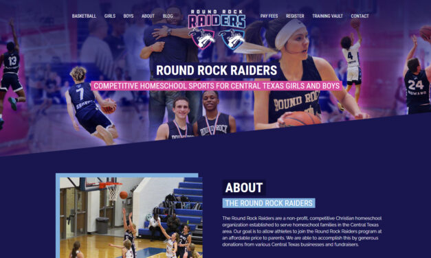 Website and Digital Marketing for Round Rock Raiders