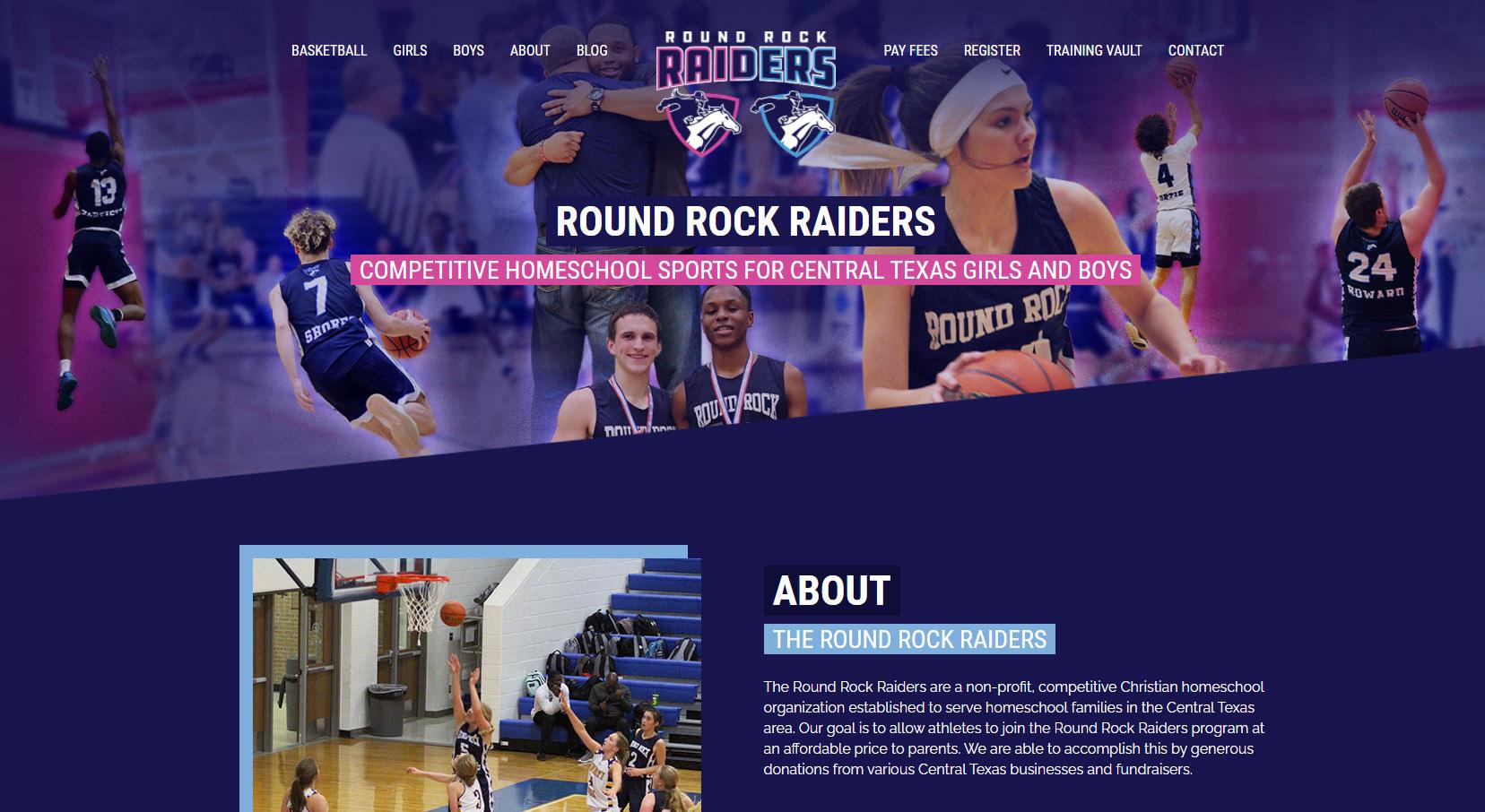 Round Rock Raider web design