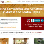 Updated Web Design for Van & Van Construction