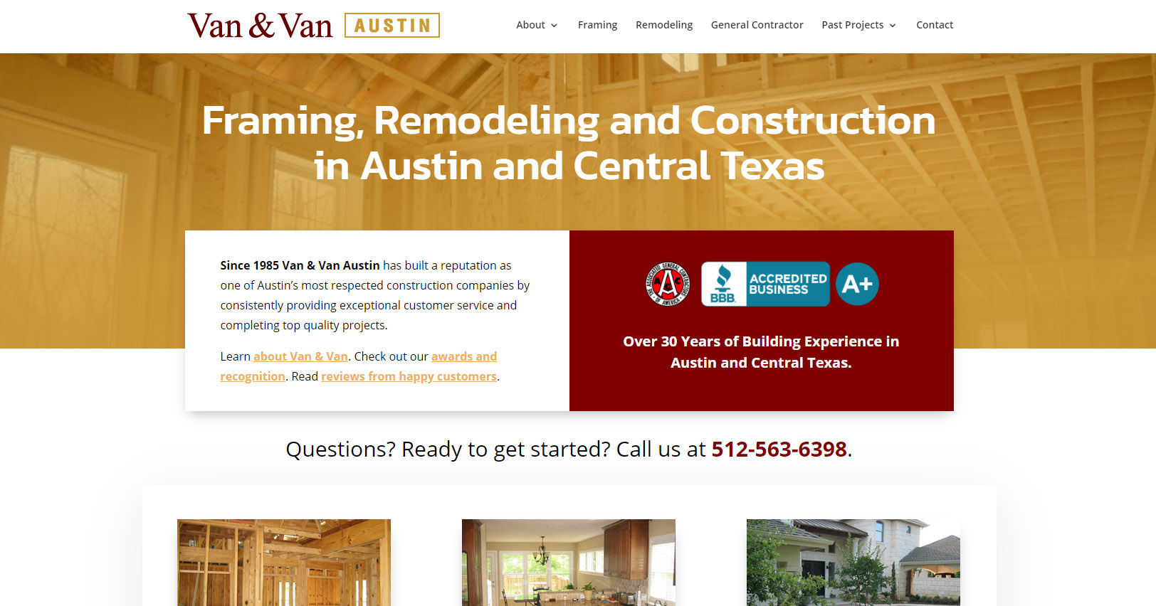 Van & Van web design update