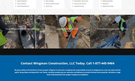 Website Design and SEO for Wingman Construction in Cedar Park